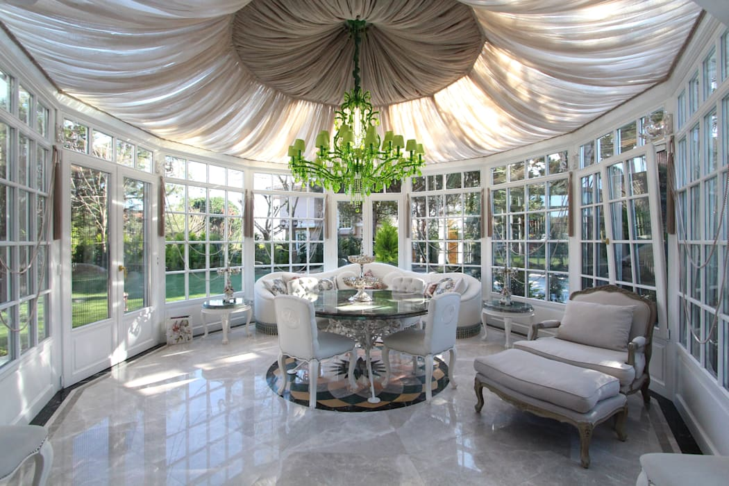 Contemporary Classical Villa in Kemer Golf & Country Classic style conservatory by Orkun İndere Interiors Classic