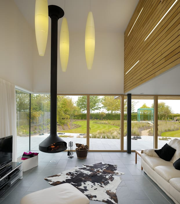 Meadowview Modern living room by Platform 5 Architects LLP Modern