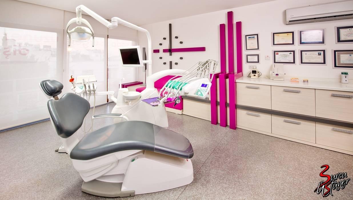 Şölen Üstüner İç mimarlık – Serger Diş Kliniği:  tarz Klinikler, Modern