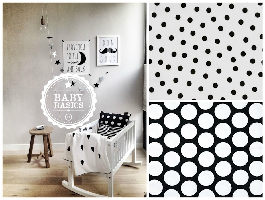 Dotty Dreams B&W Inspiration de BabyBasics Moderno
