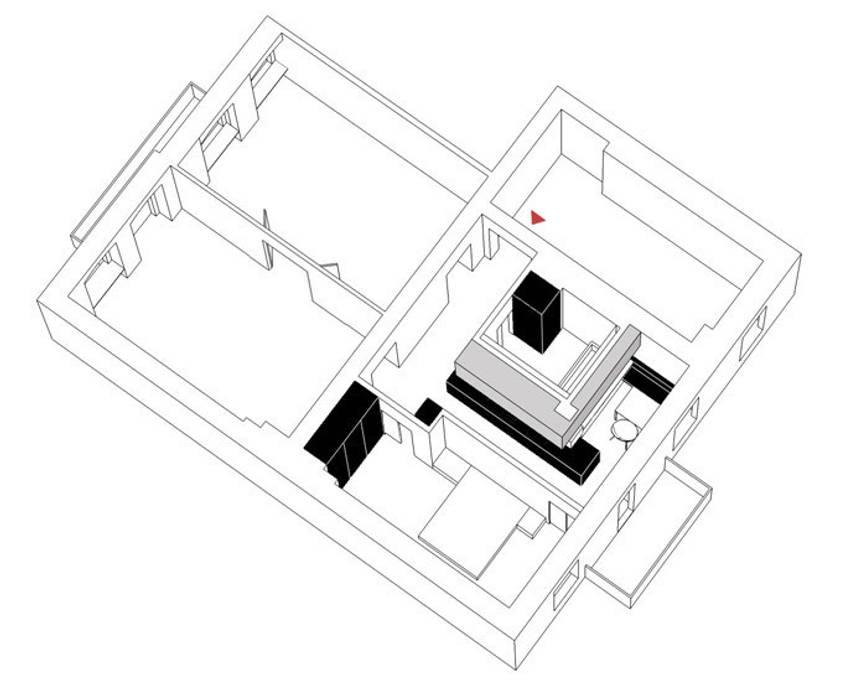 ISOMETRIE NACH DEM UMBAU von Eyrich Hertweck Architekten