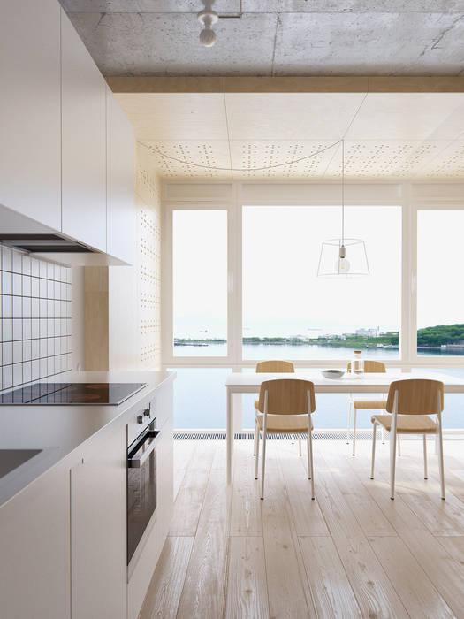 INT2architecture Sala da pranzo minimalista