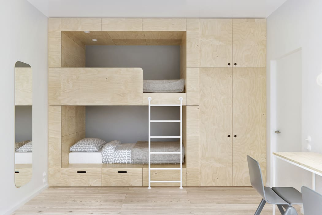 Minimalist nursery/kids room by INT2architecture Minimalist
