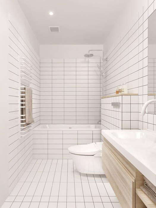 Salle de bains de style  par INT2architecture,