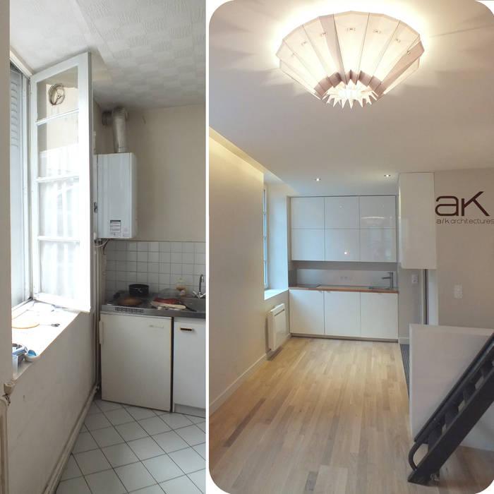 Réhabilitation studio à Clermont-Ferrand par A/K architectures
