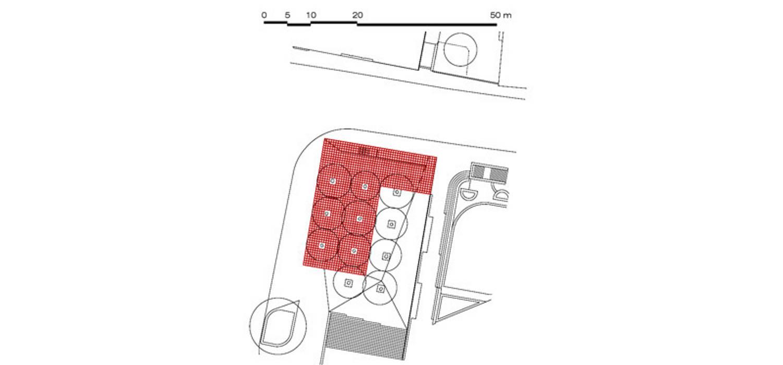 Plan de masse: Centre d'expositions de style  par Wen Qian ZHU Architecture, Moderne