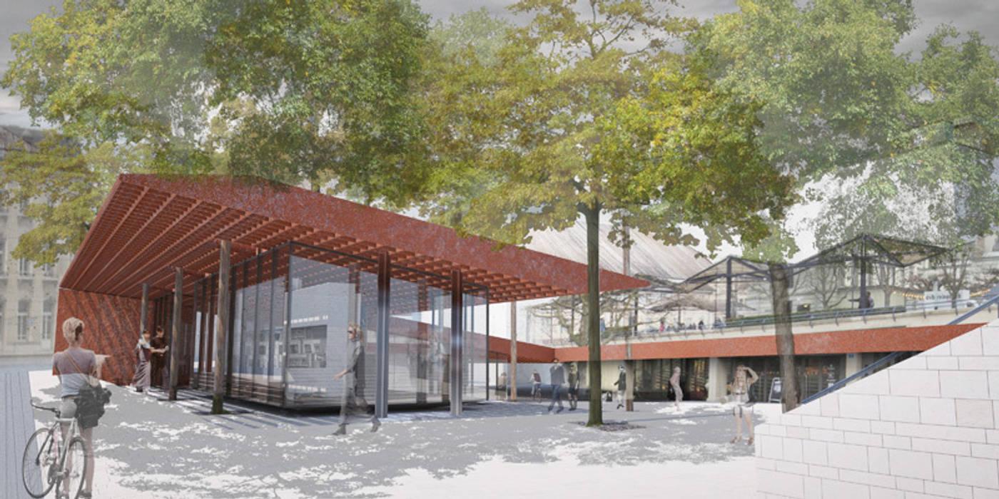 Centros de exhibiciones de estilo  por Wen Qian ZHU Architecture,