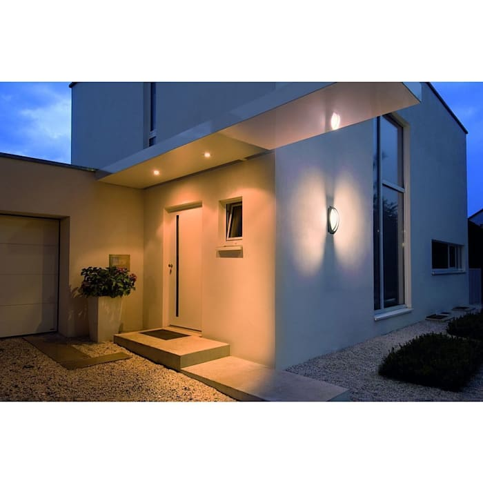 Trend Aydınlatma / Kazancı Aydınlatma – Meridian Tavan-Duvar Aplik, Antrasit:  tarz Bahçe, Modern