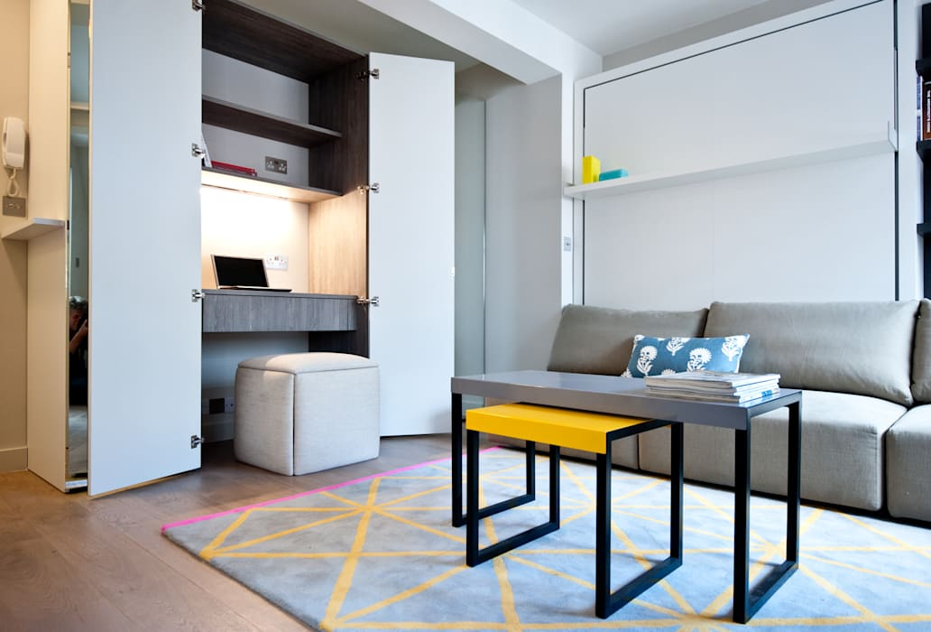 City Pied a Terre Black and Milk | Interior Design | London Modern style study/office