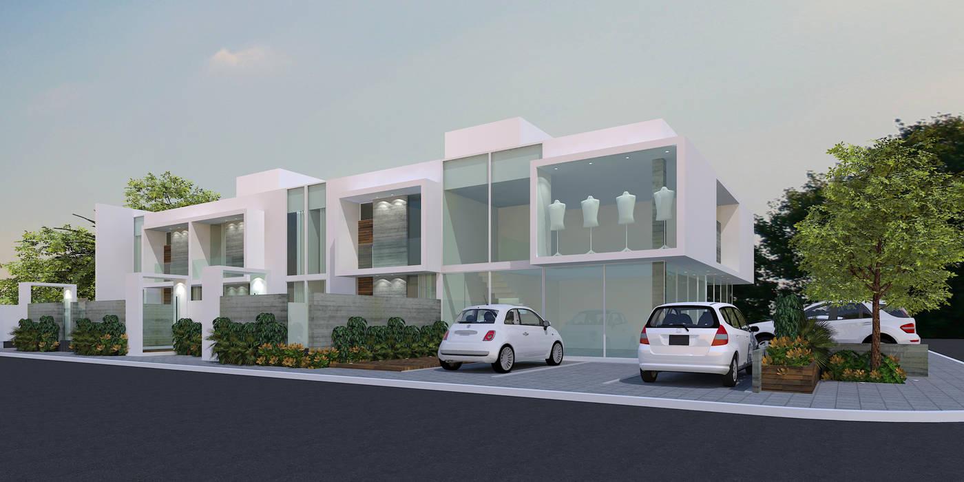 Edificio Comercial Lojas & Imóveis comerciais minimalistas por ZAAV Arquitetura Minimalista