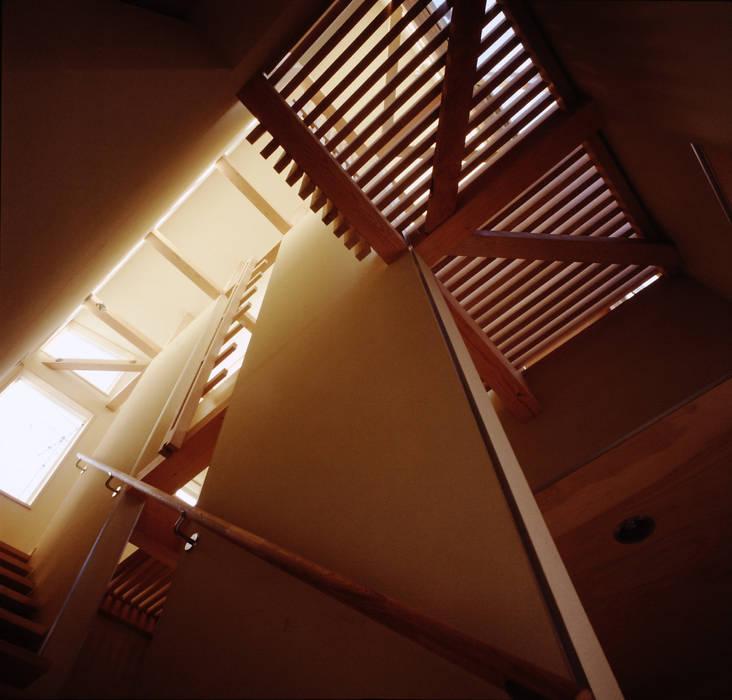 TAN 階段吹き抜け: 濱嵜良実+株式会社 浜﨑工務店一級建築士事務所が手掛けた廊下 & 玄関です。