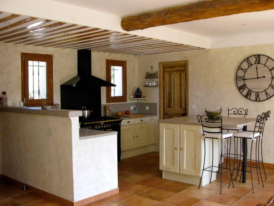 B.Inside Mediterranean style kitchen