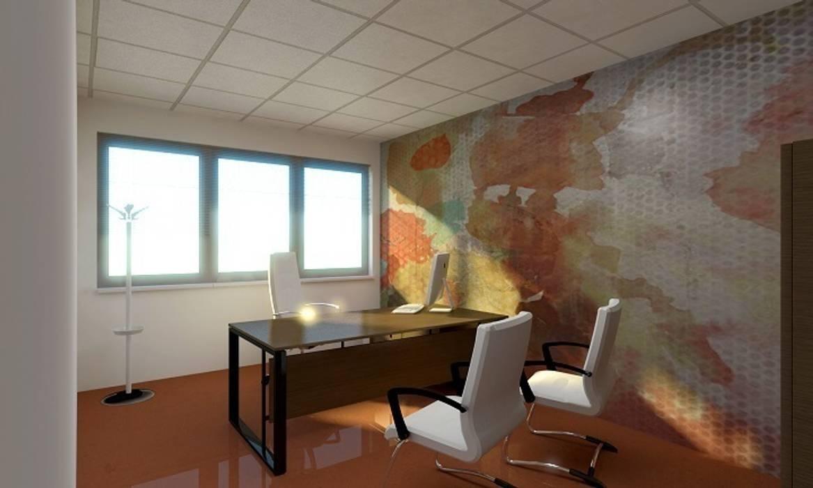 Render ufficio direzionale: Complessi per uffici in stile  di OGARREDO