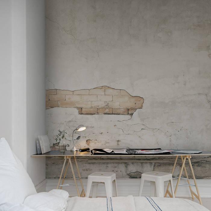 Cracks Wallpaper by Mister Smith Interiors homify Paredes y pisosPapeles pintados