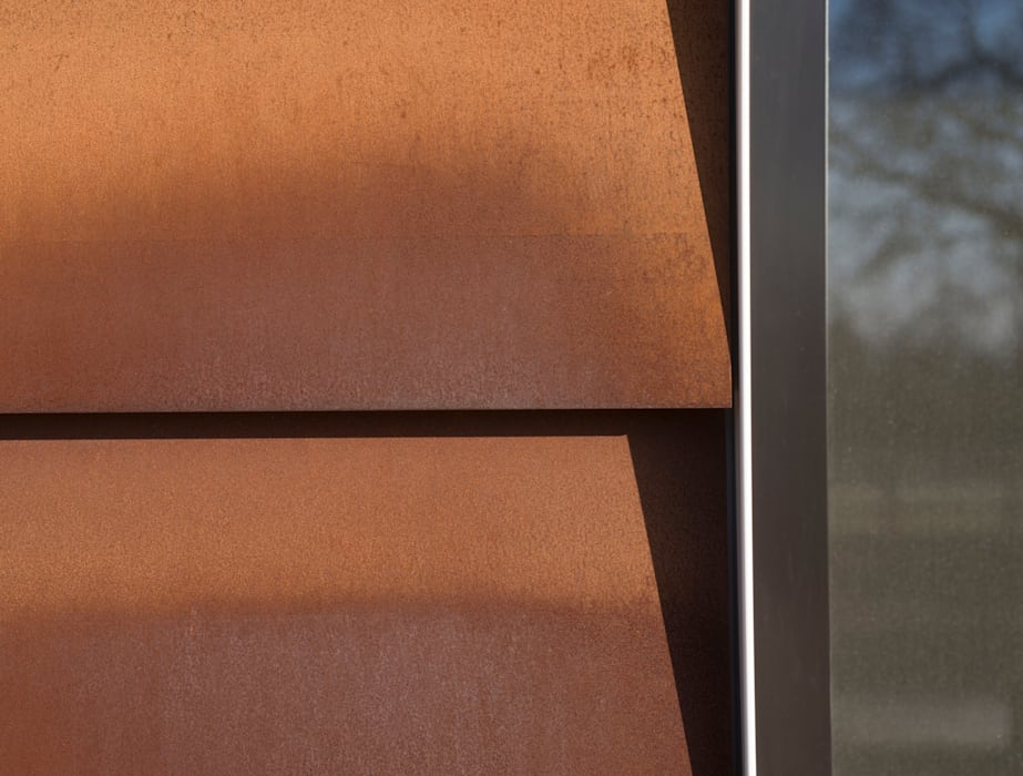 Corten Steel Detail Industrial style walls & floors by Facit Homes Industrial
