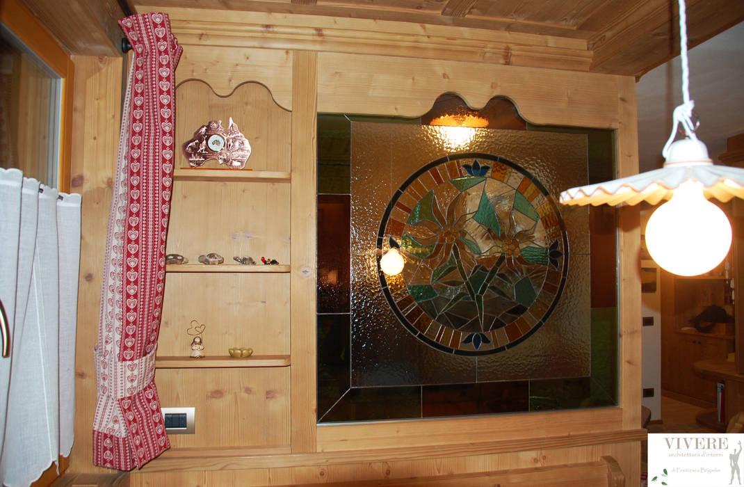 Parete divisoria zona pranzo – cucina : soggiorno in stile di ...