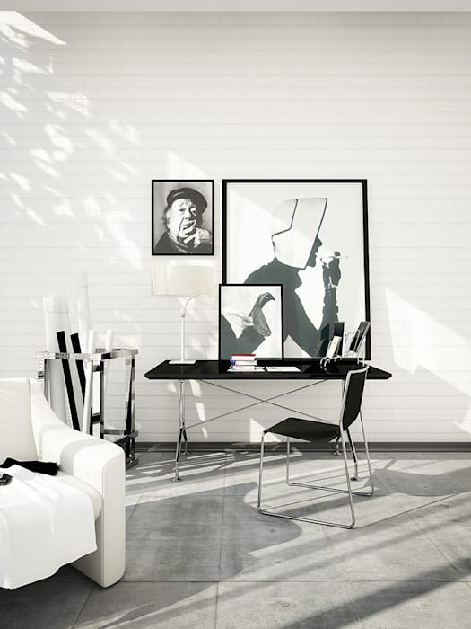 Interiors | Black and White Modern living room by DesigniTures Modern