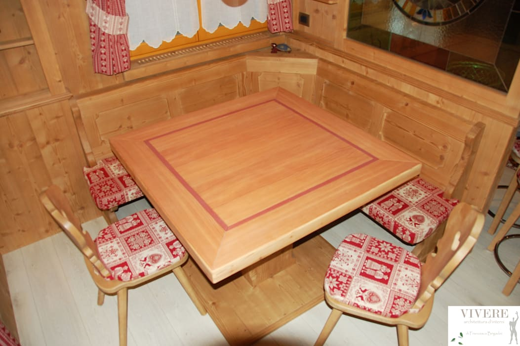 Zona pranzo sala da pranzo in stile rustico di arredamenti ...