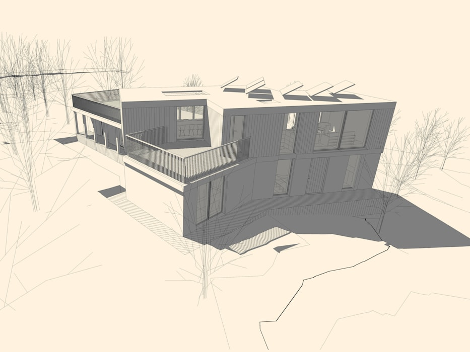 Design Proposal 5 모던스타일 주택 by Facit Homes 모던