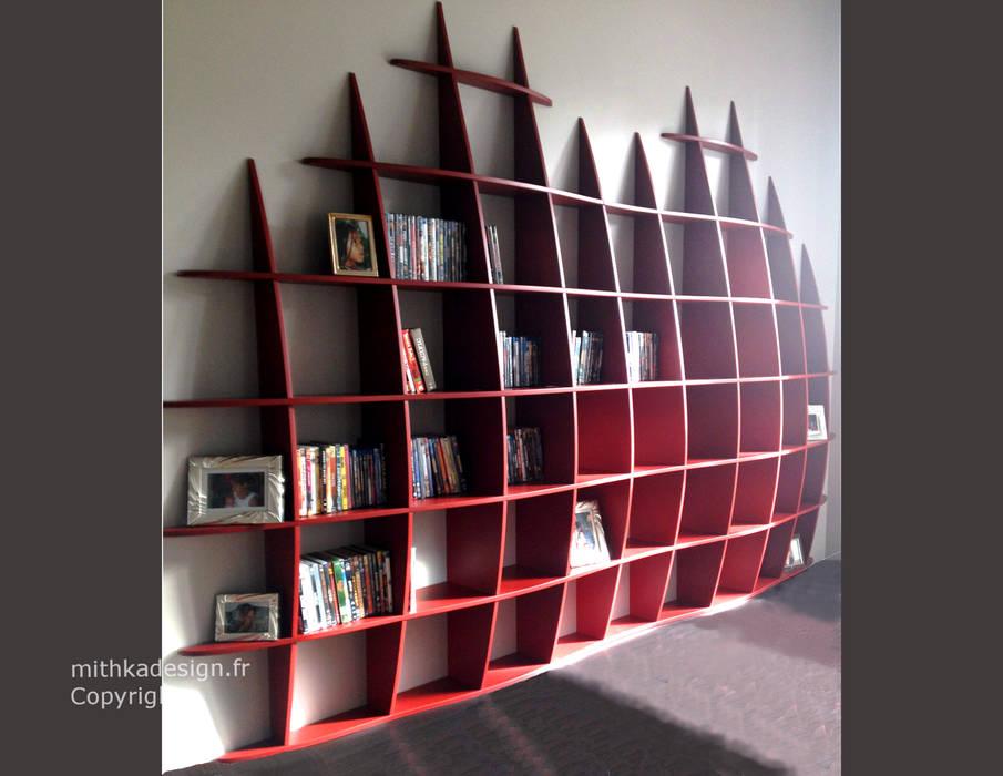 Bibliothèque Retento GM2: Salon de style  par MITHKA DESIGN