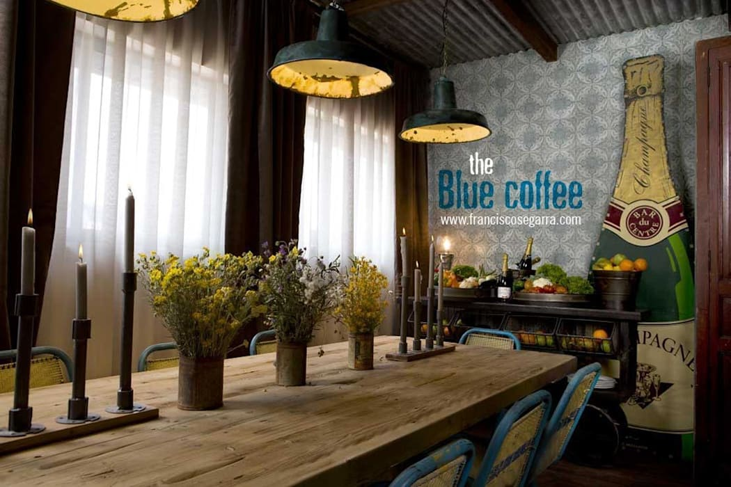 The Blue Coffee. Francisco Segarra.: Locales gastronómicos de estilo  de Francisco Segarra