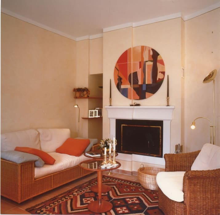 Living-room, dettaglio: Soggiorno in stile in stile Moderno di Studio Mingaia