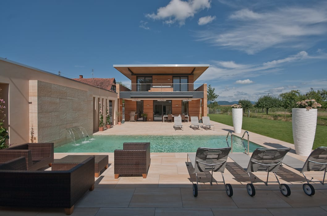 Jardines de estilo moderno de Grossmann Architekten Moderno