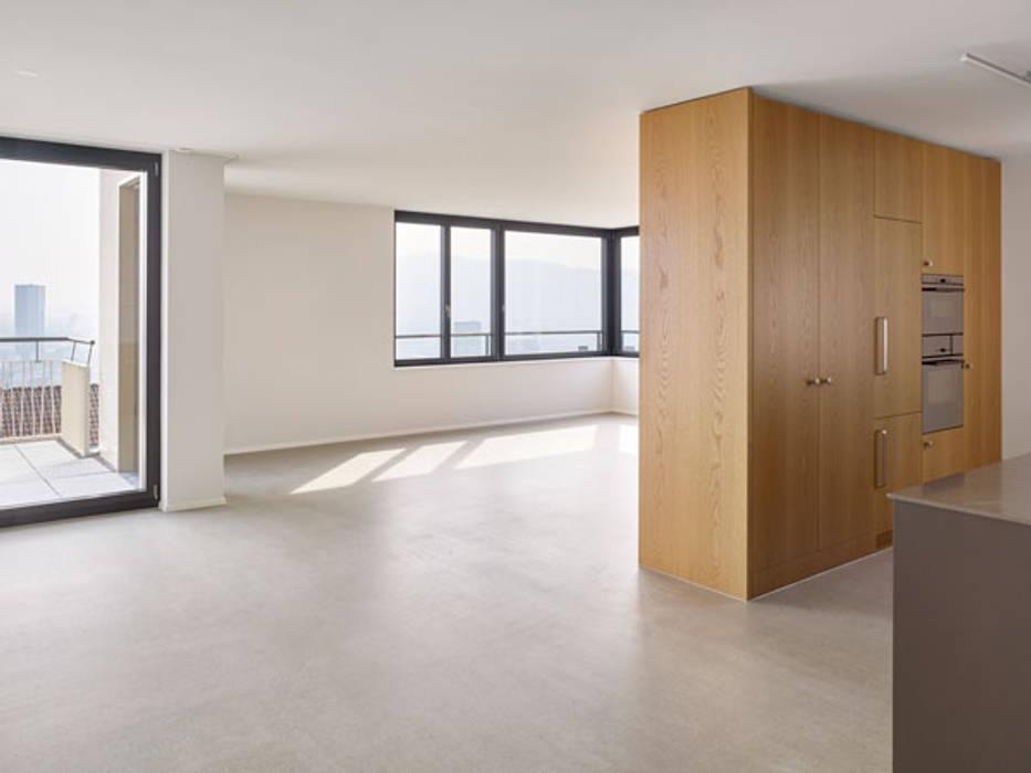 Mehrfamilienhaus Zurich Moderne Wohnzimmer Von Fiktiv Architektur