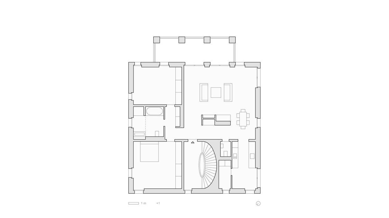 Grundriss Obergeschoss: modern  von SHSP Architekten Generalplanungsgesellschaft mbH,Modern