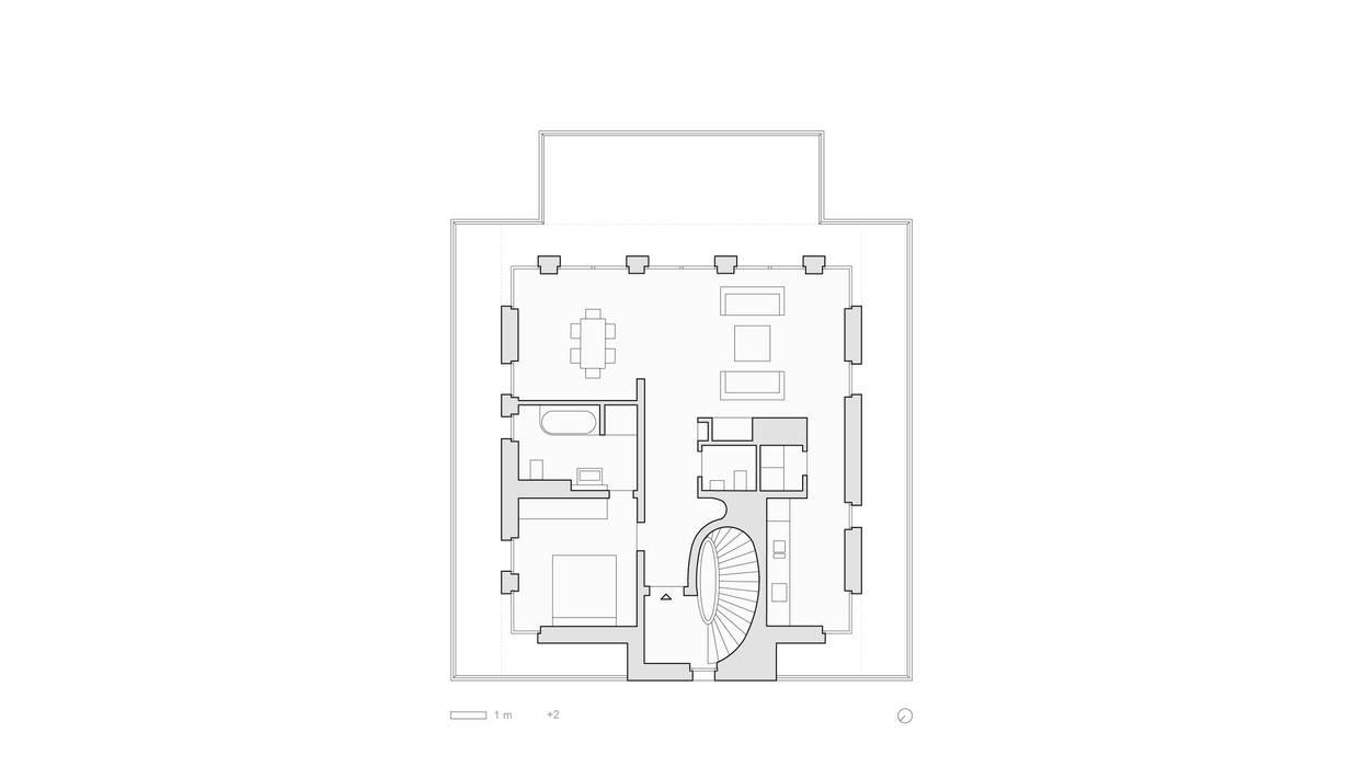 Grundriss Staffelgeschoss: modern  von SHSP Architekten Generalplanungsgesellschaft mbH,Modern
