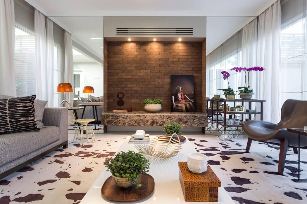 Salon de style  par Vaiano e Rossetto Arquitetura e Interiores, Moderne
