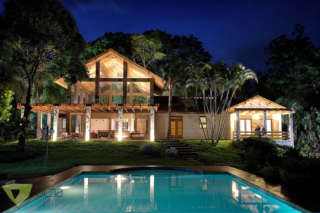Casa de Campo - Quinta do Lago - Tarauata Casas campestres por Olaa Arquitetos Campestre