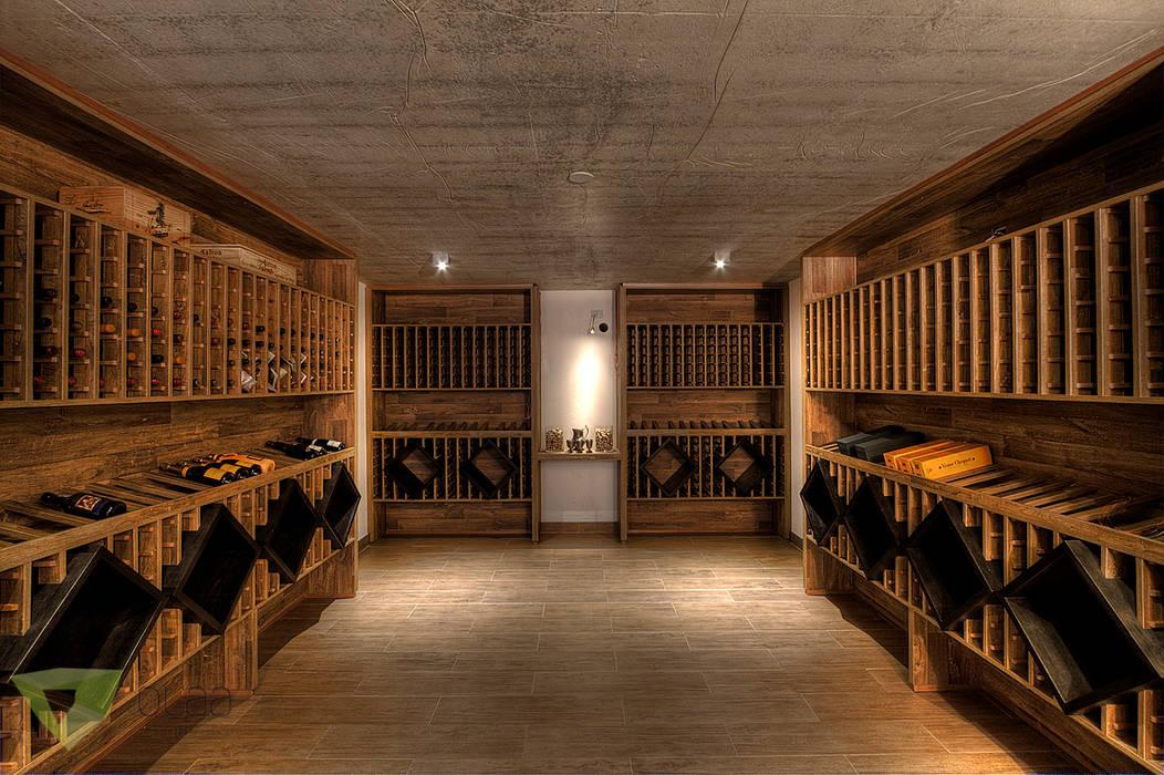 Wine cellar by Olaa Arquitetos, Rustic