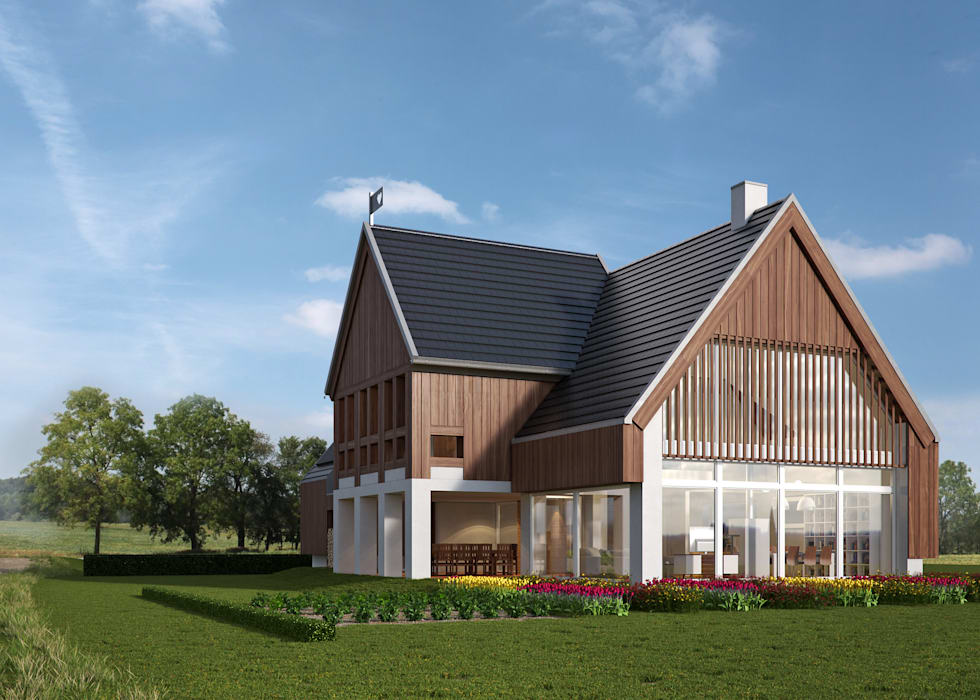 Country style house by LK & Projekt Sp. z o.o. Country