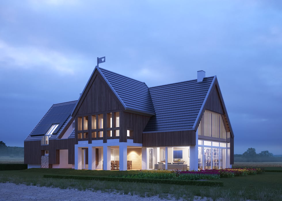 Maisons de style  par LK & Projekt Sp. z o.o., Rural