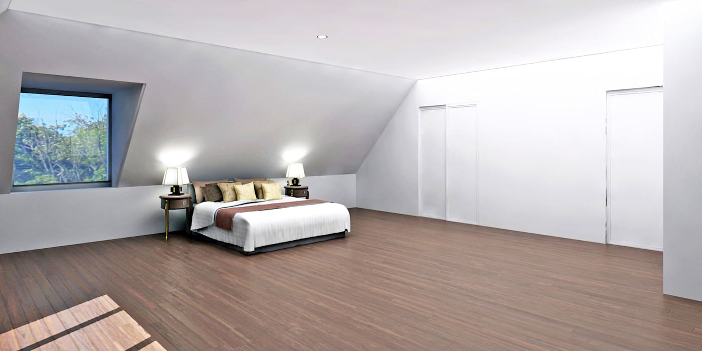 Master bedroom:  Bedroom by Studio Basheva,