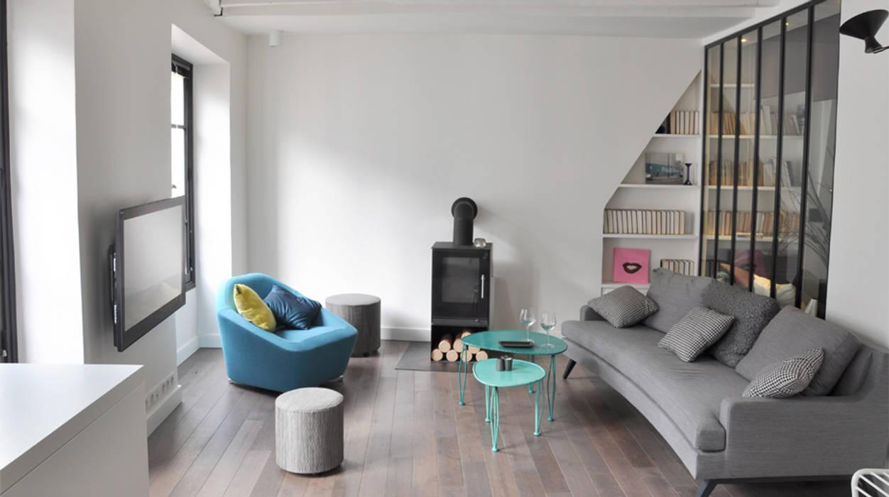 Aménagement salon: Salon de style de style Minimaliste par Elément commun