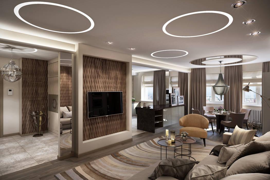 Modern living room by Ольга Райская Modern