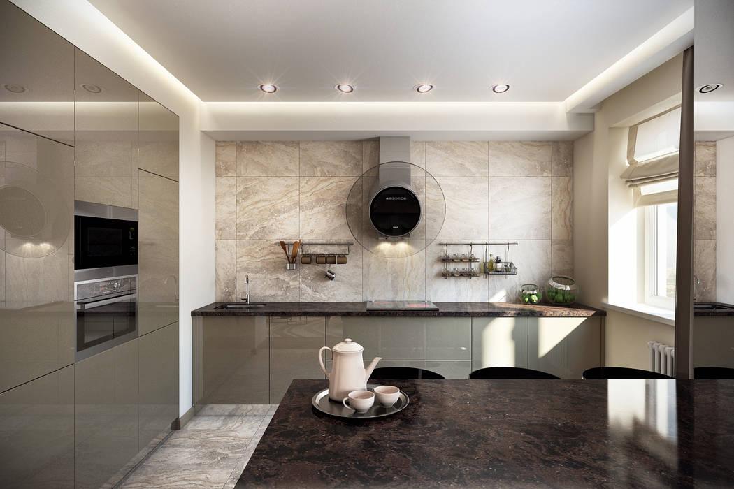 Cocinas de estilo moderno de Ольга Райская Moderno