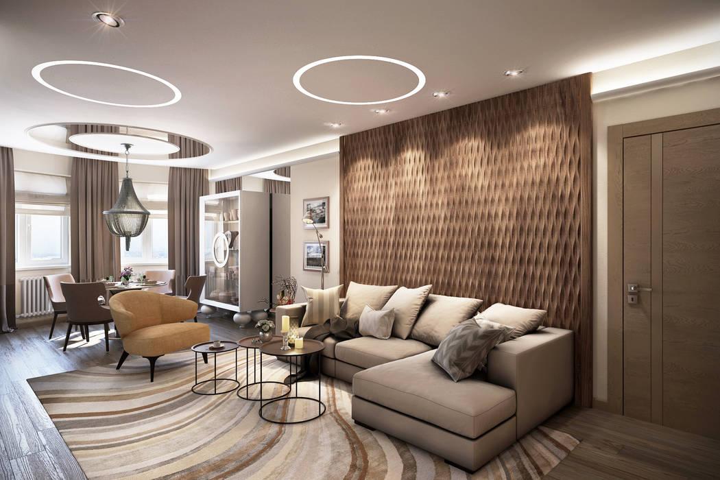 Ольга Райская Modern living room
