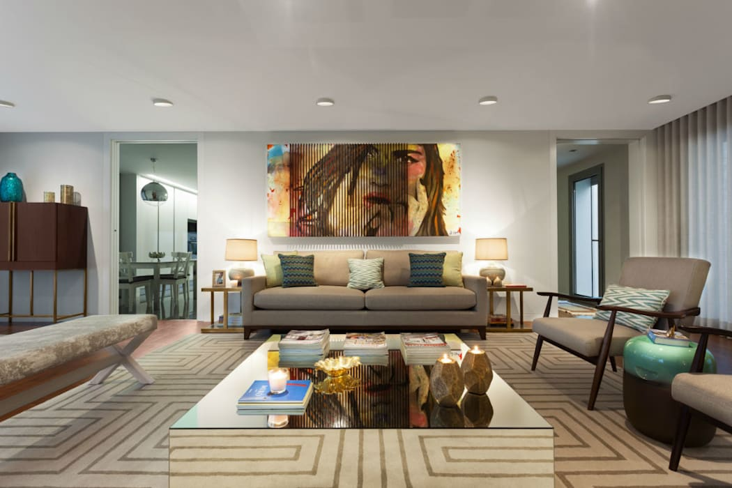 Family Room: Salas de estar  por Ana Rita Soares- Design de Interiores