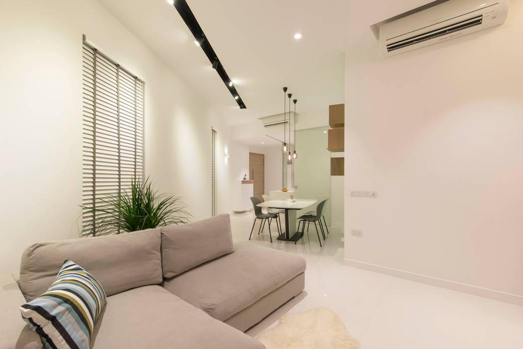 Minimalistische woonkamers van Eightytwo Minimalistisch