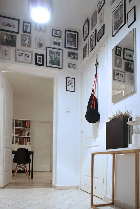 Scandinavian style corridor, hallway& stairs by studio projektowe KODA design Dawid Kotuła Scandinavian