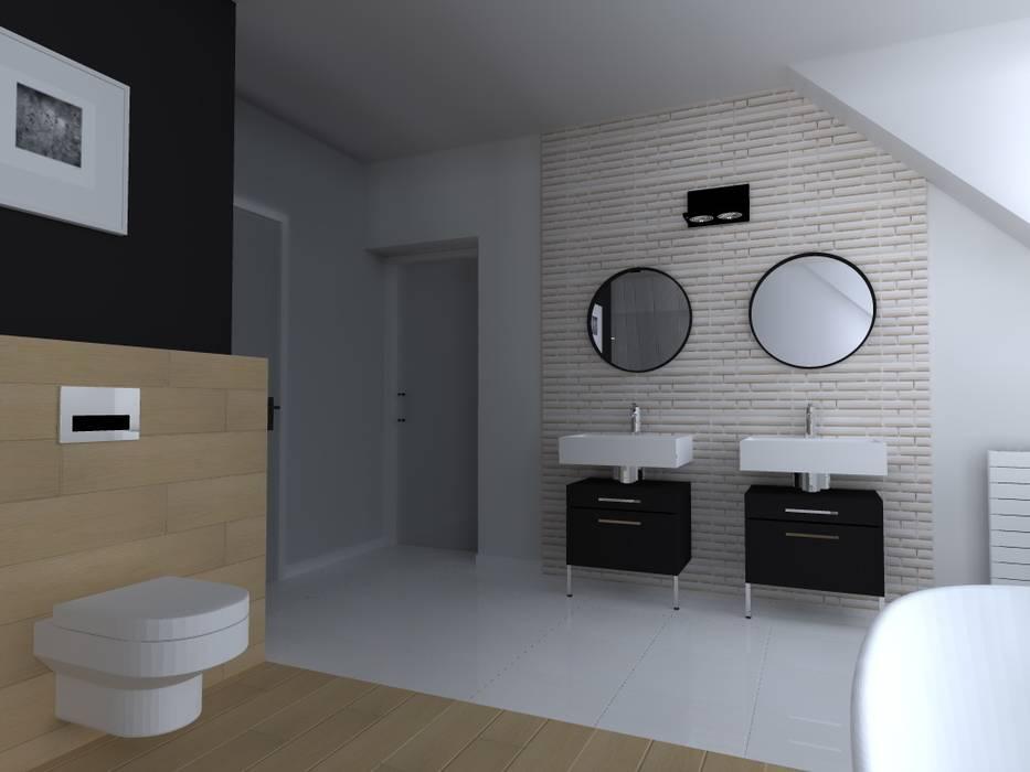 ap. studio architektoniczne Aurelia Palczewska Scandinavian style bathroom