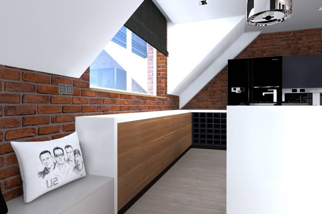 Industrial style kitchen by ap. studio architektoniczne Aurelia Palczewska-Dreszler Industrial
