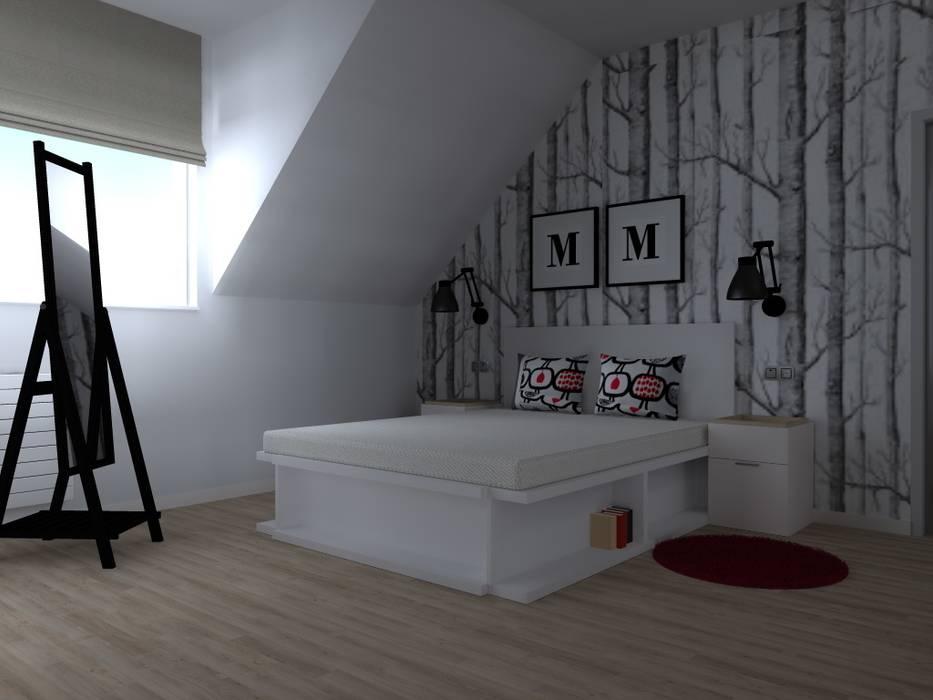 Scandinavian style bedroom by ap. studio architektoniczne Aurelia Palczewska-Dreszler Scandinavian