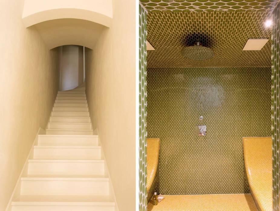 S.Monaca Townhouse: Bagno in stile in stile Eclettico di Luigi Fragola Architects