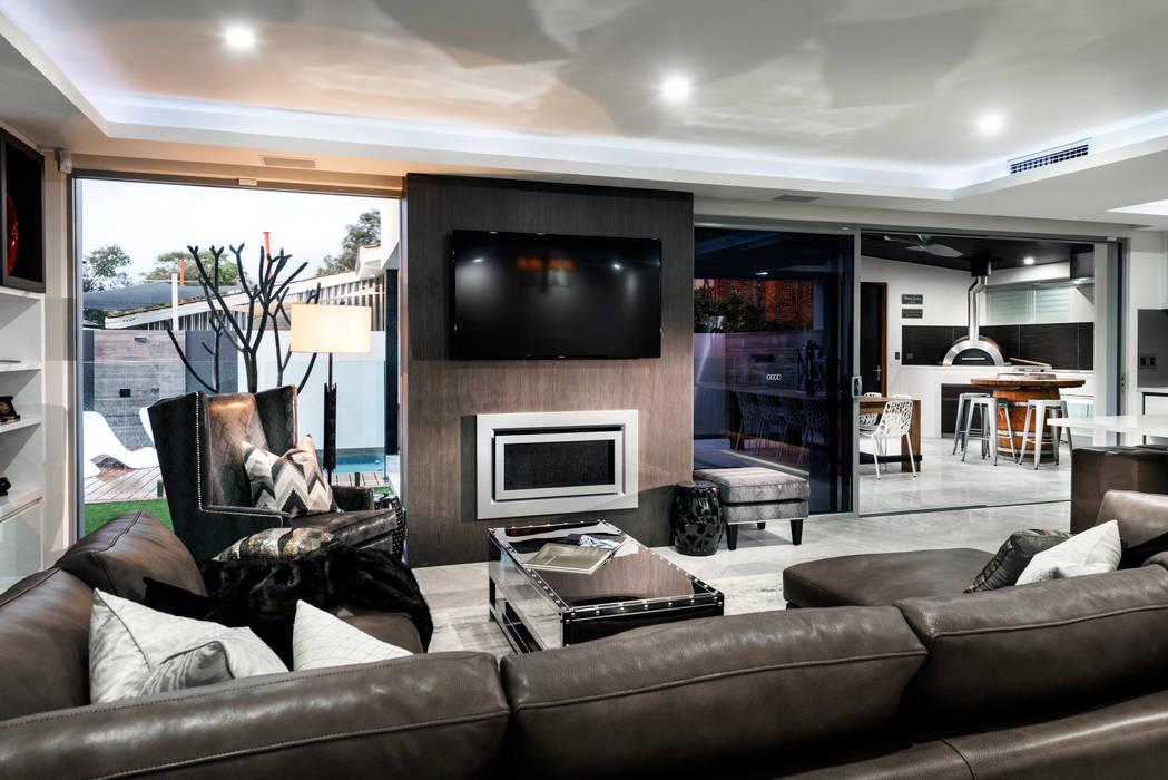 Menora Residence Moderne Wohnzimmer von Moda Interiors Modern