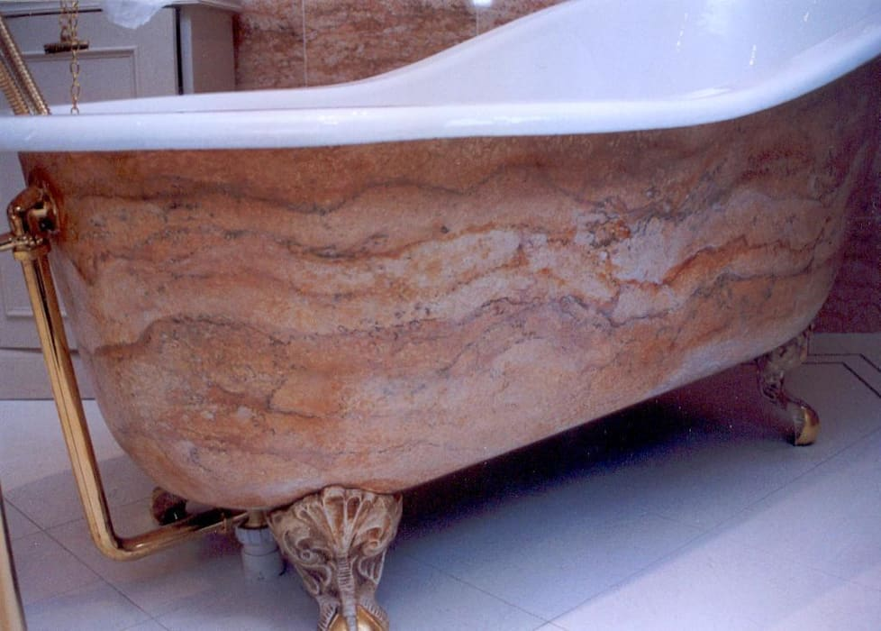 Painted Bath Tub - Perth Classic style bathroom by Carte Blanche Decorative Painters Classic