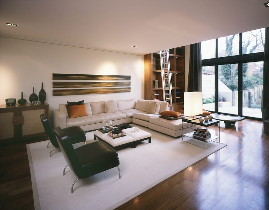 Thurlow Road 1 Salas de estar modernas por KSR Architects Moderno